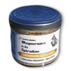 Rillettes de Maquereaux à la spiruline naturelle, fabrication artisanale Bretagne.
