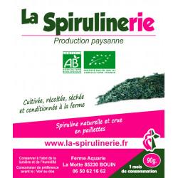 Acheter Spiruline Bio francaise artisanale Bouin en paillettes cure 1 mois