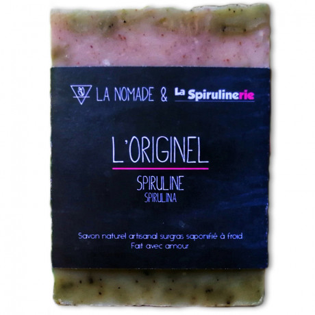 Savon naturel surgras fabriqué artisanalement en France, saponifié à froid à la spiruline Bio de Vendée