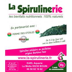 Acheter Spiruline Solidaire Ecologique artisanale Burkina Faso en paillettes