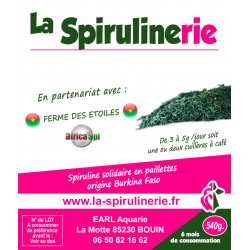 Acheter Spiruline Solidaire écologique artisanale produite au Burkina Faso par la Ferme des étoiles