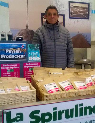 Acheter Spiruline Bio aux Halles de Noirmoutier en l'île et sur les marchés Vendée Bretagne