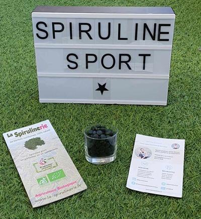 Acheter spiruline en pailettes complement nutrition sportive avec Ronan Pallier athlete de haut niveau